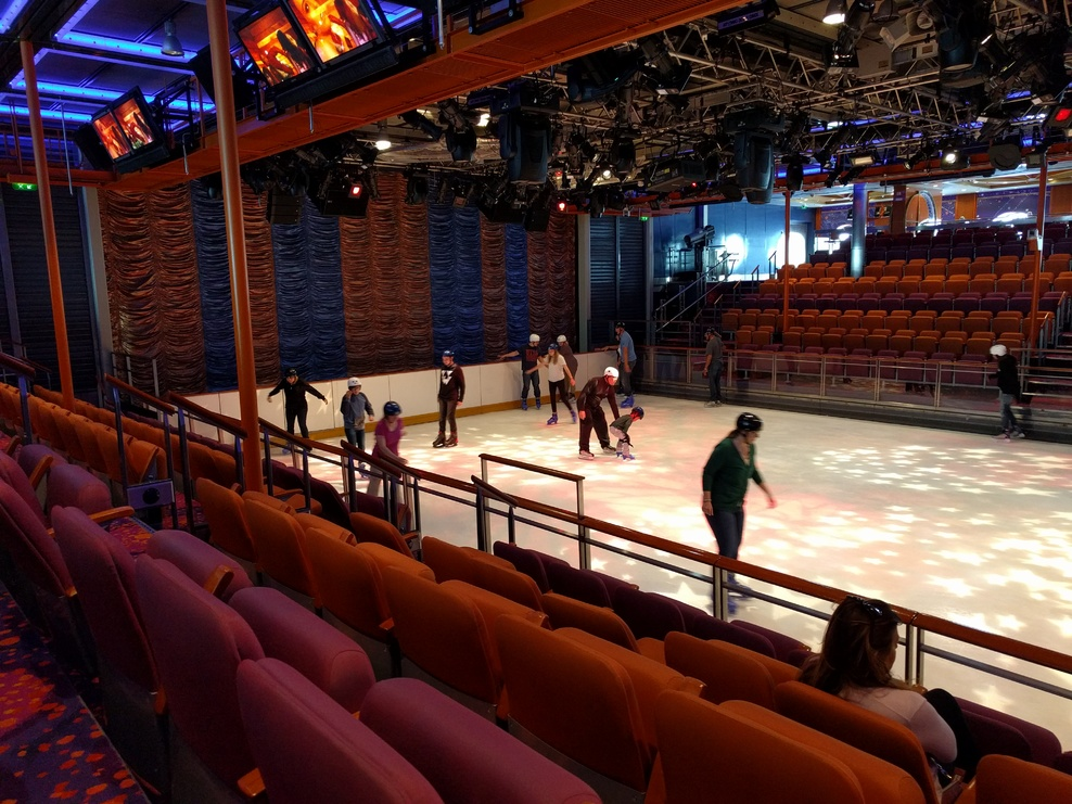 Ice skating rink.  Small, but adequate space.  Fun, but infrequently availa