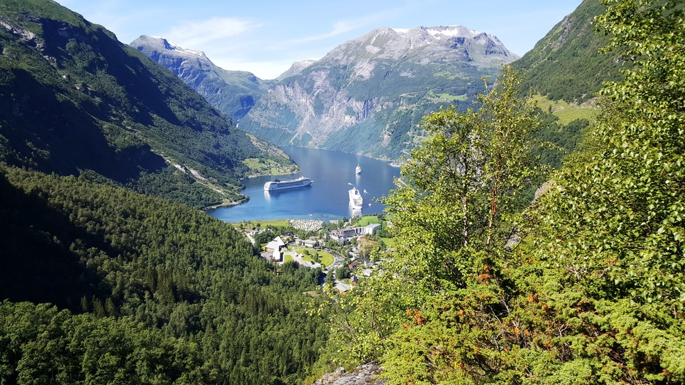 Geiranger Fjord, Norway. The most breat taking view. We had mountain bikes