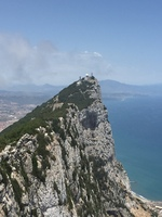 The tip of the Rock if Gibraltar.