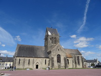 Saint-Mere-Eglise in Normandy France from the movie