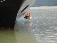 Lifeboat drill for the crew in Skagway