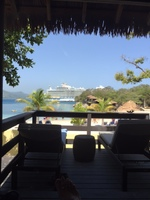 The view from our cabana at Labadee.