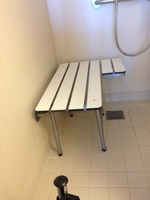 Handicap shower bench and roll in shower