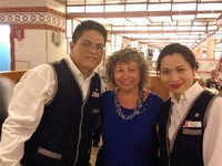 Our head waiter Felix and Krizzia. Both wonderful!