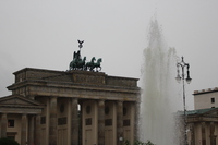 Berlin in the rain