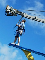 Walk the plank on the rope course