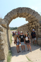 At the original Olympic site in Olympia, Greece