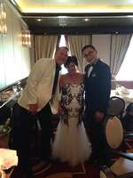 This is me and my lovely husband Jason with one of our waiters Dan.  Dan wa
