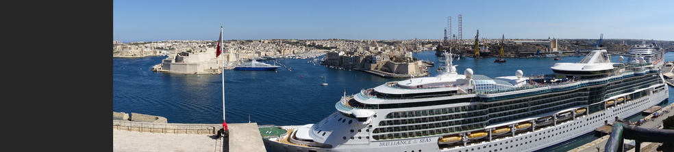 Brilliance of the Seas in port at Valletta, Malta