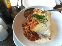 The world's most amazing lasagna at Canaletto