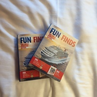 Books sold to us on the cruise for discounts in port.