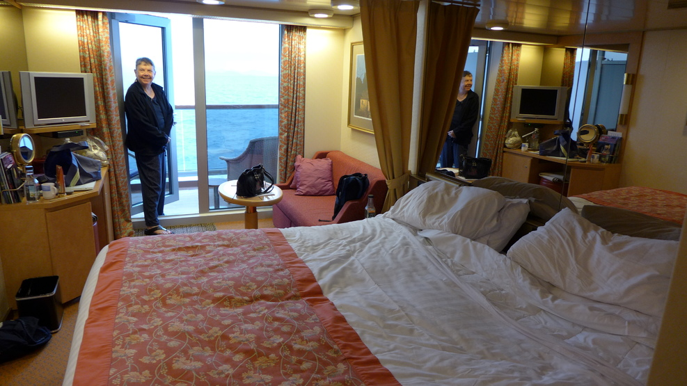 Our starboard balcony room