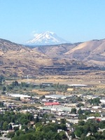 This is a photo of Mt. Adams from a park in Dalles, OR.