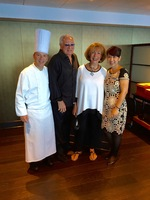 Head Chef Mario, Red Ginger Maitre'D Warunee my wife and I in Red Ginge