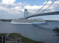 The #NorwegianBreakaway Leaving NYC (picture from Staten Island )
