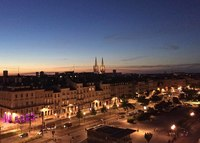 Bordeaux at sunset from Sirena deck