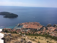 Dubrovnik view from the top of the cable car