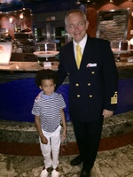 Matthew got to meet the ship's Captain!
