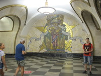 Moscow subway art.  Subway is almost an art gallery