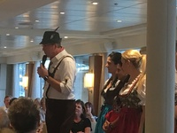 Ships crew dressed for German Dinner night.