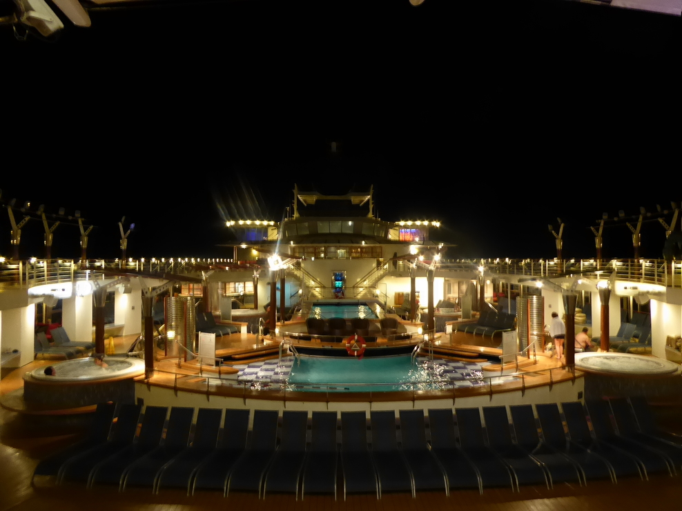 Top deck at night