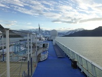 Deck view of glacier bay.