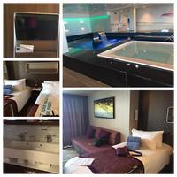 This is a collage of the Min-Suite and the Spa (whirlpool)