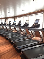 treadmills in the fitness center