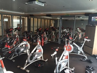 Indoor Cycling room in the fitness center