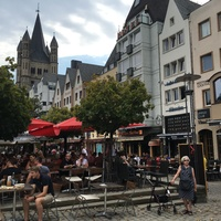 Cologne, Germany, near the river front.