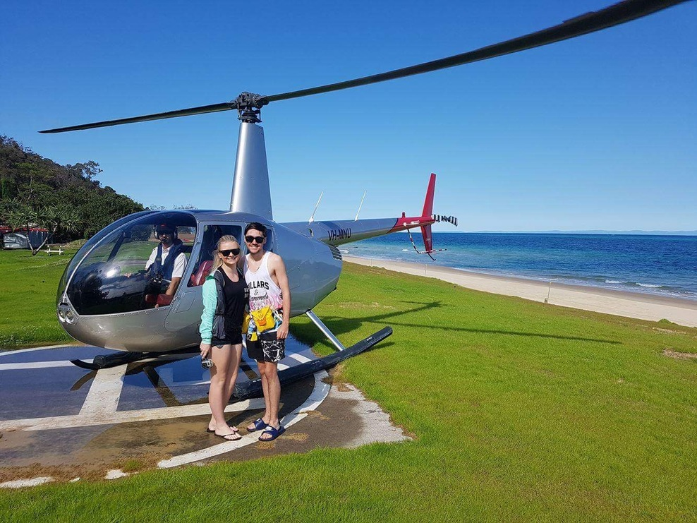 Helicopter Over Moreton Island