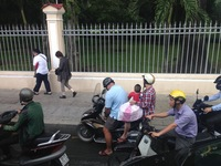 Motor scooters everywhere in Ho Chi Minh
