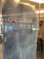 Ocean Blue restaurant. Good food, but not worth the extra up-charge on top