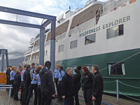 27 crew and 55 guests bid a fond farewell in Juneau.
