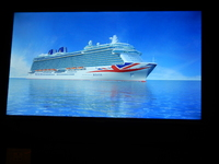 Picture of Britannia on big screen TV