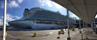 Ruby Princess waiting for us.