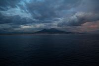 Vesuvius as seen from ship leaving Naples in the evening.