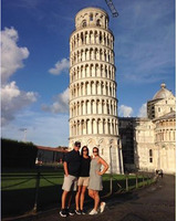Enjoying Pisa on our way to Florence.