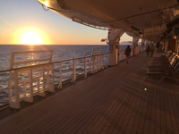 Eurodam Promenade Deck, at sunset