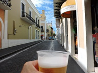 Cold beer in Puerto Rico!!!!!
