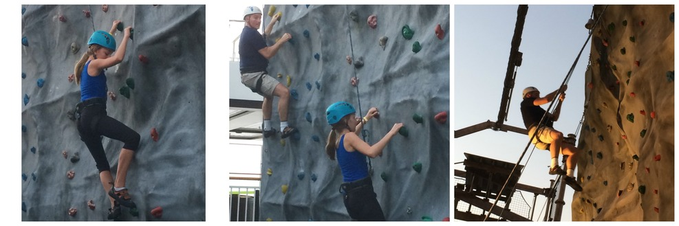 Climbing wall on the Getaway