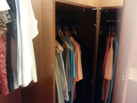 Closet area in bedroom