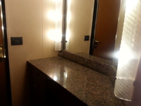 Dressing room area