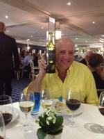 Jonathan enjoyed the red wine they served the last night of the cruise