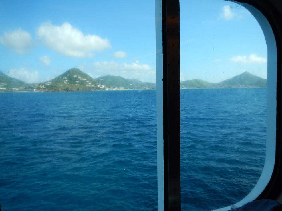 View from the window approaching St. Maarten