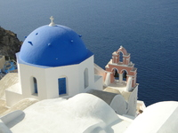 Blue roofs of Santorini