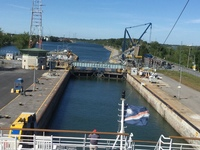 Entering a lock the on St Lawrence Seaway
