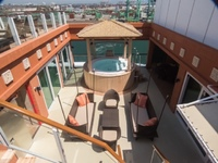 Villa patio/sundeck upstairs