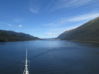 Coming into Juneau, delightfully warm and sunny.
