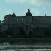 Castle on river.